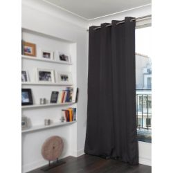 Cortina Oscura Aspecto de Lino Country Baby Marron MC9017