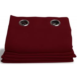 Cortina Oscura Aspecto de Lino Country Baby Rojo MC11